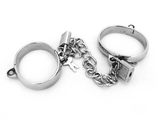 """Wrist or Ankle Dungeon Irons with Locks and 8"""" Chain"""