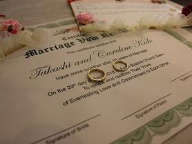 4月29日 結婚の誓約更新式