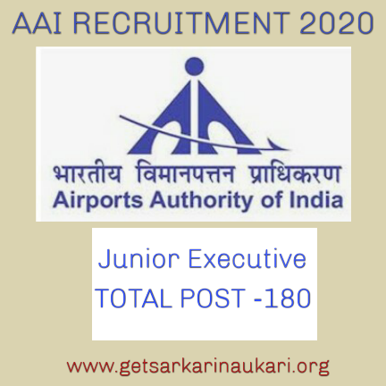 AAI Recruitment 2020 for 180 post