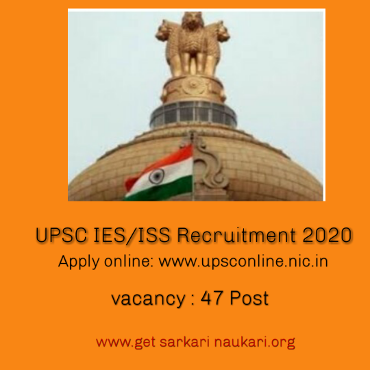 Upsc ies/iss recruitment 2020