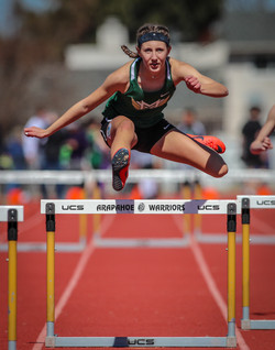 Mountain Vista High School Hurdler