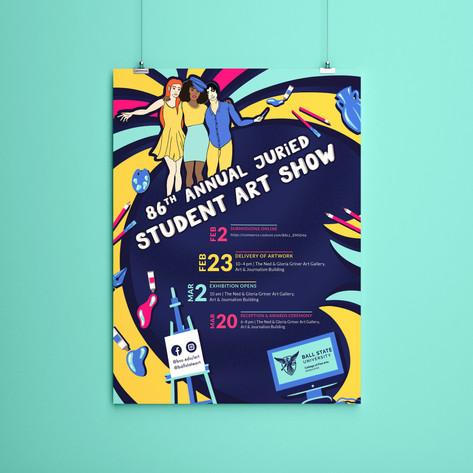 Student Art Show Poster (2021)