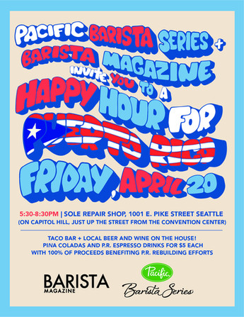 Barista Magazine presents Happy Hour for Puerto Rico, 2018