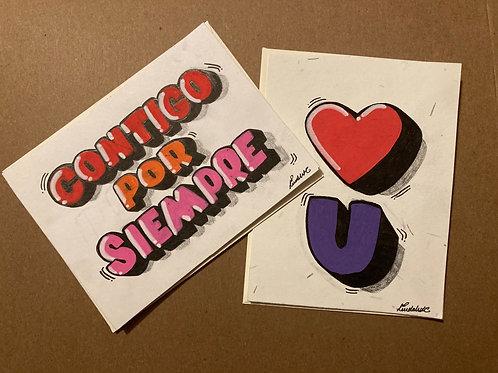 Contigo por siempre & love you