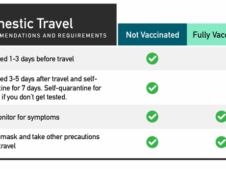 CDC issues updated guidance on travel for fully vaccinated people