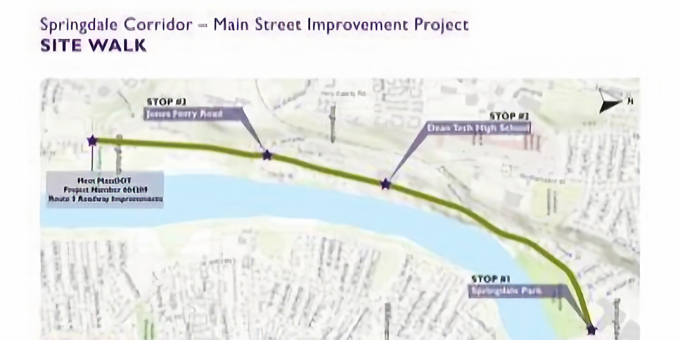 Site Walk: Springdale Corridor - Main St Improvement Project