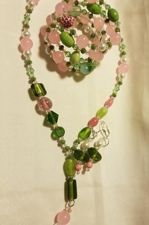 Shades of Pink and Green