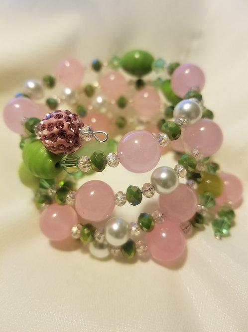 Pink and Shades of Green