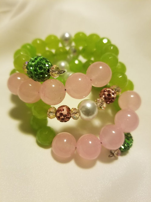 Wrapped in Pink and Green