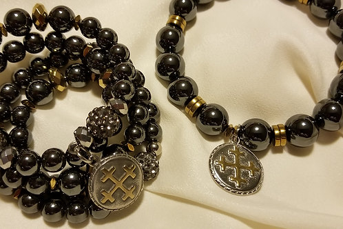 Gunmetal and Gold