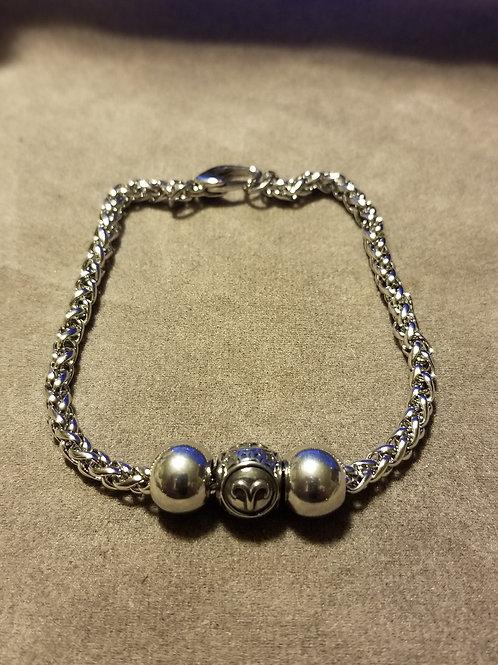 Steel Zodiac Charm Bracelet