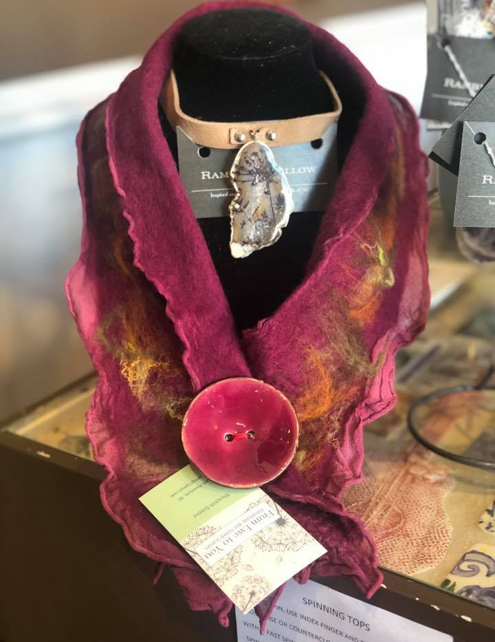 Felted Scarves and Agate Jewelry