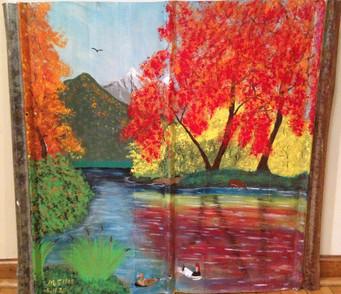 Ducks Enjoying Fall