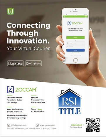 ZOCCAM allows electronic, third-party delivery of earnest money directly into a title company's escrow account, saving agents time and money.