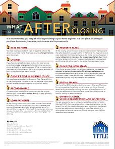Steps after real estate settlement closing title insurance
