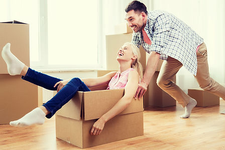 New home owners moving into their first home.
