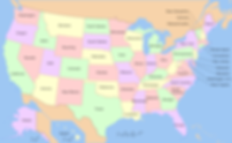 Detailed United States of America map