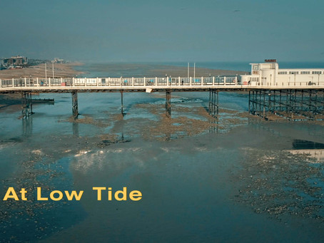 At Low Tide - Worthing Beach Drone