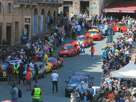 Mille Miglia (1,000 Miles) Road Race 2017, Siena, Tuscany, Italy