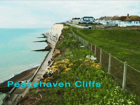 Peacehaven Cliffs from the air