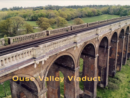 Ouse Valley Viaduct Aerial View