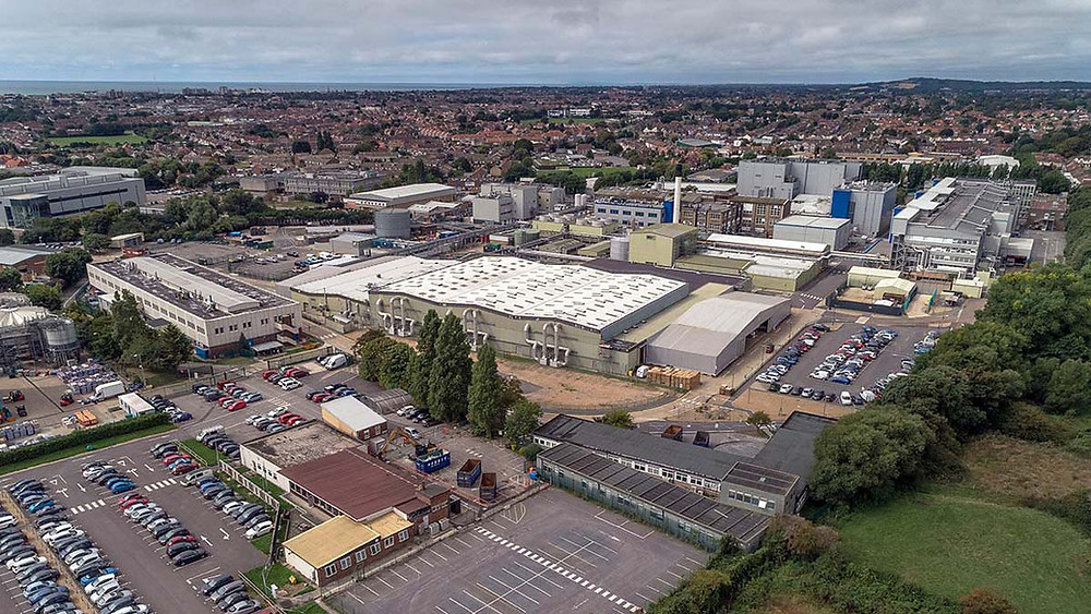 Aerial photo of GSK West Sussex site from the air