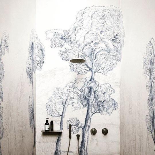 Wet system wallpaper by wallanddeco
