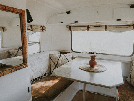 How I Painted The Interior of My Vintage Boler Travel Trailer & What I Used