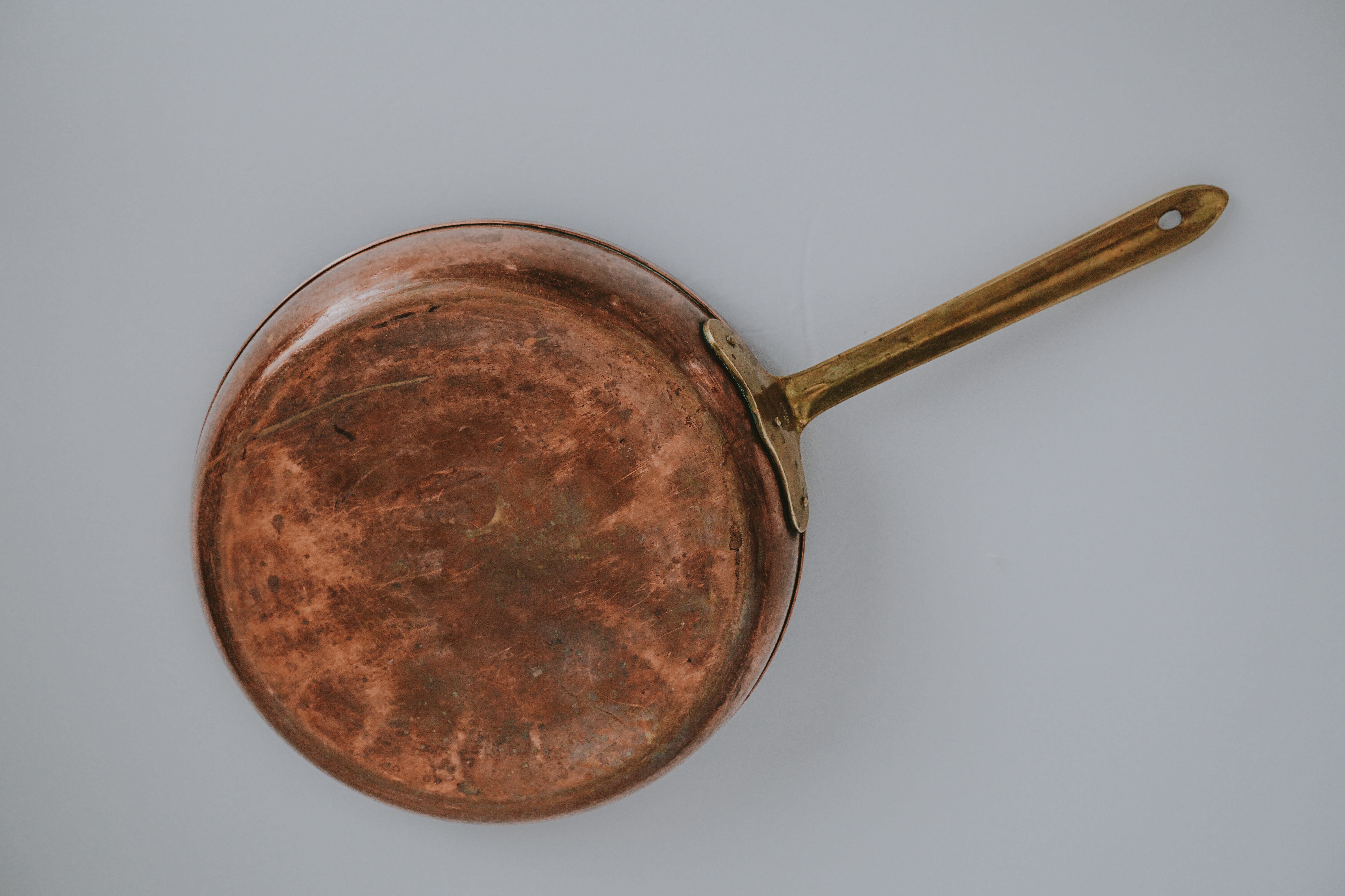 VINTAGE COPPER FRYING PAN