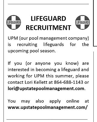 Lifeguard Recruitment Blurb for March 20