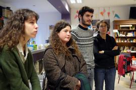15 11 2019 - MJC de Villeurbanne - Compétition documentaire de création - Zoé Régère, Léa Rotival, Loïck Gutierrez (jury étudiant), Caroline Gil (Interférences)