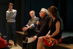2018 11 10 - Gaëtan Bailly (Interférences), Bernard Fort ( Compositeur), Daniel Deshays (Preneur de son) et Frédérique Monblanc (Interférences) - L'esprit des lieux - Villa Gillet