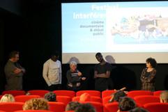 2018 11 13 - Vartane Ohanian (Interférences), Michelle François (Éducation sans frontières), Yaya, Gaïa Formenti (Réalisatrice) - Cittàgiardino - Cinéma Lumière Bellecour