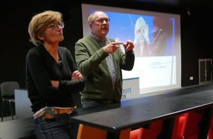 Jean-Marc Grefferat, modération et Marianne Thivend, maîtresse de conférences histoire contemporaine