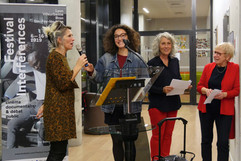 06 11 2019 - Ouverture du festival - Université de Lyon - Pascale Bazin, Célia Francina, Pascale Dufraisse, Marie-Reine Jazé-Charvolin (Interférences)
