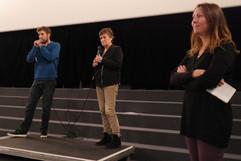 14 11 2019 - Cinéma le Zola - Au dos de nos images - Romain Baudéan (réalisateur), Elisabeth Bruyère Chanteur (psychologue clinicienne, psychanalyste), Yaël Epstein (Interférences)