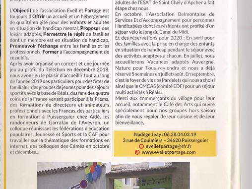 Le dernier bulletin municipal de Puisserguier !