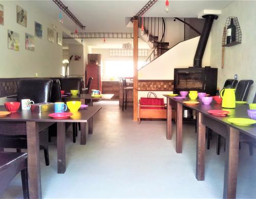 salle à manger, cheminée