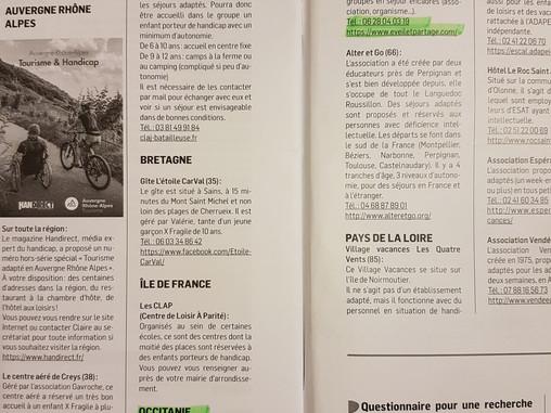 L'Association Fragile X France - Le Goéland référence notre gîte Eveil et Partage