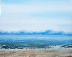 First time painting plein-air with oils. Beware of sand