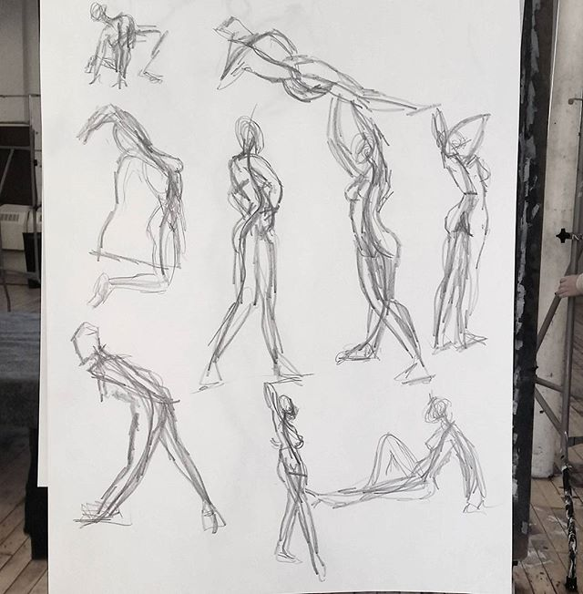 1 minute gesture drawings