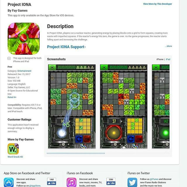 Project IONA- download on app store!