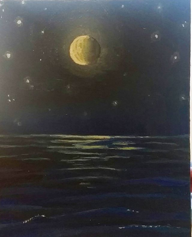 30 mins Acrylic on canvas  6 x 4