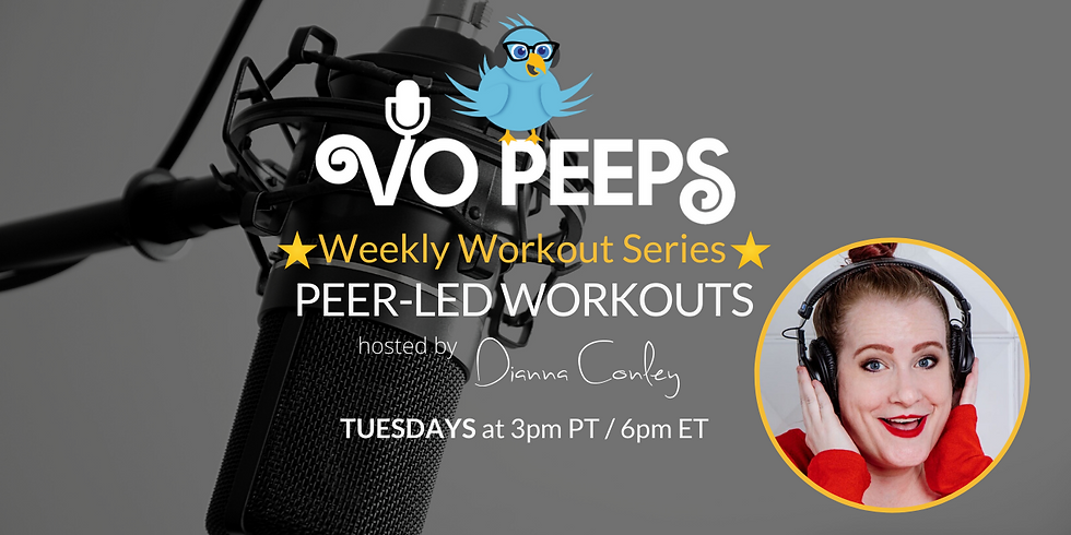 VO Peeps Weekly Peer Led Workouts with Dianna July 28th