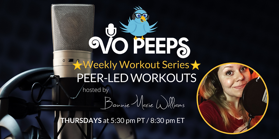 VO Peeps Weekly Peer Led Workout with Bonnie  - July 30th