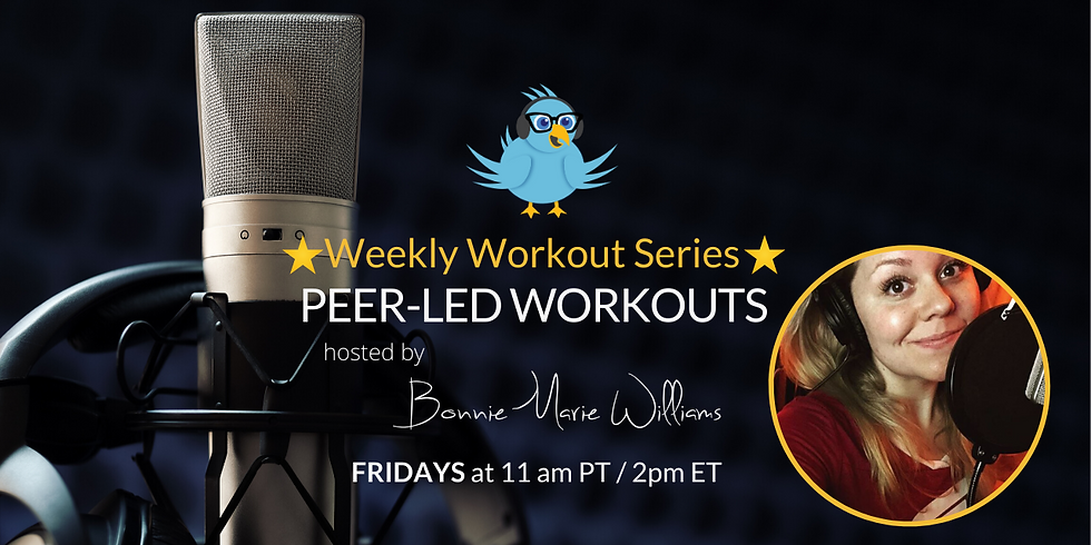 VO Peeps Weekly Peer Led Workout with Bonnie  - NEW TIME