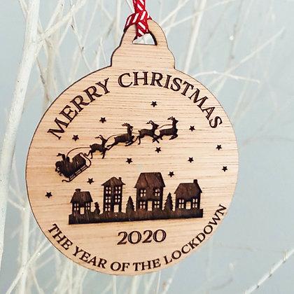 Lockdown Christmas 2020 Bauble