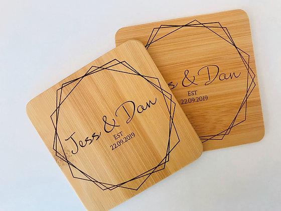 Bamboo Geo Coasters