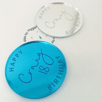 Happy Birthday personalised disc
