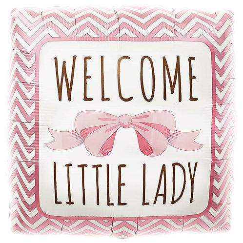 Welcome Little Lady Helium Ballon Geboorte